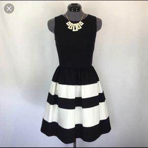 Bar III Black & White Striped Dress